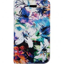 Capa Book Cover para Moto G7 e G7 Plus - Floral Aquarela