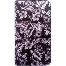 Book Cover para iPhone 6 - Floral Black White