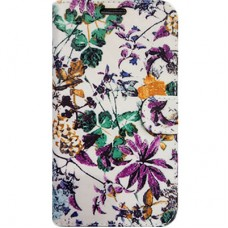 Capa Book Cover para Moto One - Floral White