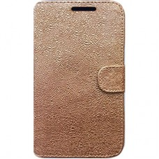 Capa Book Cover para Moto One - Gold Metal Effect