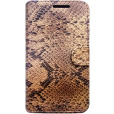 Capa Book Cover para Moto G7 Play - Golden Glow Snake