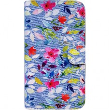 Capa Book Cover para Galaxy On5 2016 e J5 Prime - Jeans Floral