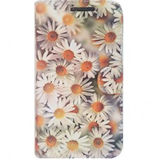 Capa Book Cover para Galaxy S10 Plus - Margaridas