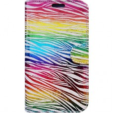 Capa Book Cover para Galaxy A7 2018 - Rainbow Animal