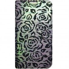 Capa Book Cover para Galaxy S10 Plus - Rosas Gliter