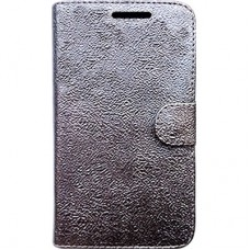 Capa Book Cover para Galaxy A8 2018 Plus - Silver Metal Effect