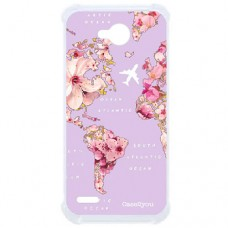 Capa para LG K10 Power Case2you - Antishock Mundi Floral