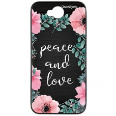 Capa para LG K10 Power Case2you - Escovada Preta Peace and Love