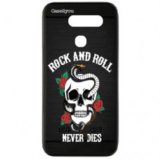 Capa para LG G8s ThinQ Case2you - Escovada Preta Rock and Roll