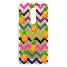 Capa para LG K12 Plus Case2you - Abacaxi Zig Zag