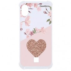 Capa para LG K8 Plus Case2you - Antishock Cerejeira Love