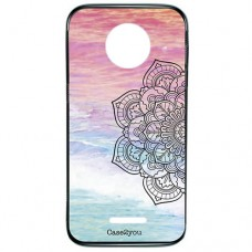 Capa para Motorola Moto C Plus Case2you - Fumê Beach Mandala