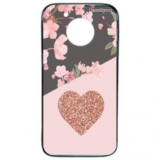 Capa para Motorola Moto G5 Case2you - Fumê Cerejeira Love