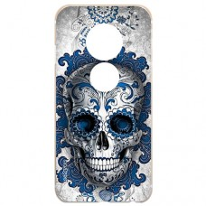Capa para Motorola Moto E5 Play Case2you - Caveira Azul