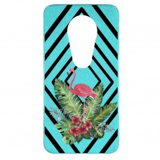 Capa para Motorola Moto E5 Play Case2you - Flamingo Abstrato Gliter Azul