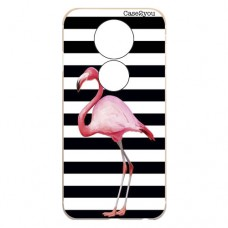 Capa para Motorola Moto E5 Play Case2you - Flamingo Listrado