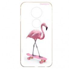 Capa para Motorola Moto E5 Play Case2you - Flamingo Skatista