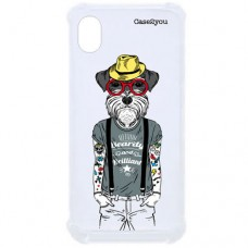 Capa para Motorola Moto E6 Case2you - Antishock Dog Tatoo