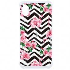 Capa para Motorola Moto E6 Case2you - Flamingo Rosas Antishock