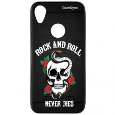 Capa para Motorola Moto E6 Case2you - Escovada Preta Rock and Roll