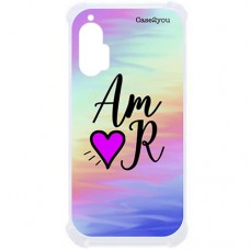 Capa para Motorola Moto Edge Plus Case2you - Antishock Abstrato Amor