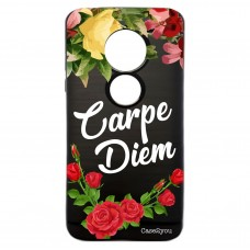 Capa para Motorola Moto E5 Play Case2you - Escovada Preta Carpe Diem Black