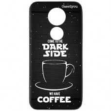 Capa para Motorola Moto G7 Play Case2you - Escovada Preta Dark Side