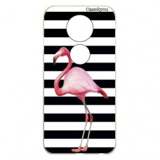Capa para Motorola Moto E5 Plus Case2you - Flamingo Listrado