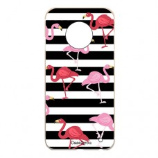 Capa para Motorola Moto G6 Case2you - Flamingos Listrado
