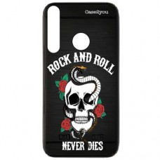 Capa para Motorola Moto G8 Plus Case2you - Escovada Preta Rock and Roll