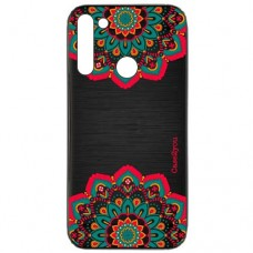 Capa para Motorola Moto G8 Power Case2you - Escovada Preta Mandala