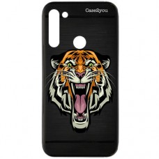 Capa para Motorola Moto G8 Power Case2you - Escovada Preta Tigre