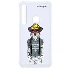 Capa para Motorola Moto G8 Play e Moto One Macro Case2you - Antishock Dog Tatoo