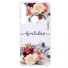Capa para Motorola Moto G8 Plus Case2you - Antishock Gratidão
