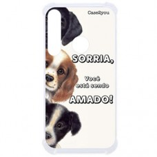 Capa para Motorola Moto G8 Play e Moto One Macro Case2you - Antishock Sorria