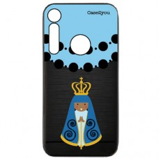 Capa para Motorola Moto G8 Play e Moto One Macro Case2you - Escovada Preta Ave Maria