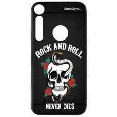 Capa para Motorola Moto G8 Play e Moto One Macro Case2you - Escovada Preta Rock and Roll