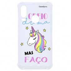 Capa para Motorola Moto One Vision P40/One Action/P40 Power Case2you - Odeio Drama Antishock