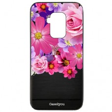 Capa para Motorola Moto One Zoom Case2you - Escovada Preta Floral