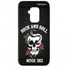 Capa para Motorola Moto One Zoom Case2you - Escovada Preta Rock and Roll