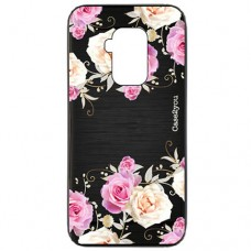 Capa para Motorola Moto One Zoom Case2you - Escovada Preta Rosas
