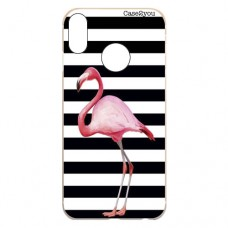 Capa para Motorola Moto One Case2you - Flamingo Listrado