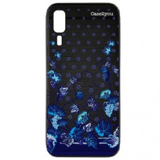 Capa para Samsung Galaxy A2 Core Case2you - Escovada Preta Floral Uvas
