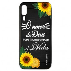 Capa para Samsung Galaxy A2 Core Case2you - Escovada Preta O Amor