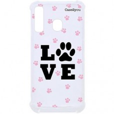 Capa para Samsung Galaxy A20s Case2you - Antishock Love Pet