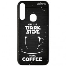Capa para Samsung Galaxy A20s Case2you - Escovada Preta Dark Side