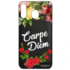 Capa para Samsung Galaxy A40 Case2you - Escovada Preta Carpe Diem Black