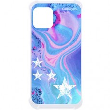 Capa para iPhone 12 Mini Case2you - Antishock Abstrato Estrelas