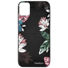 Capa para iPhone 11 Case2you - Escovada Preta Floral