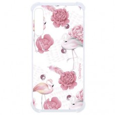 Capa para Samsung Galaxy A7 2018 Case2you - Antishock Rosas Flamingo